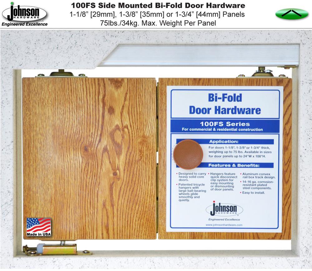 Johnson Hardware 100FS Side Mounted Bi-Fold Door Hardware   Jhusa ...