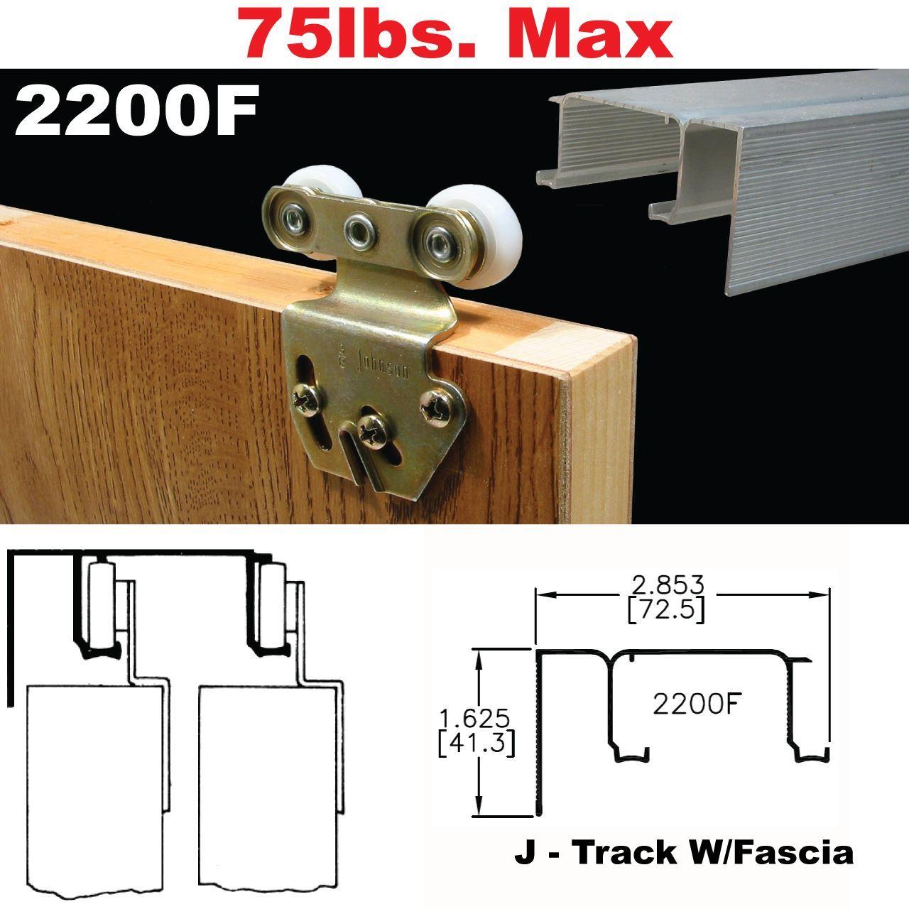 Pocket Door Track Johnson Hardware 2200f Sliding Bypass