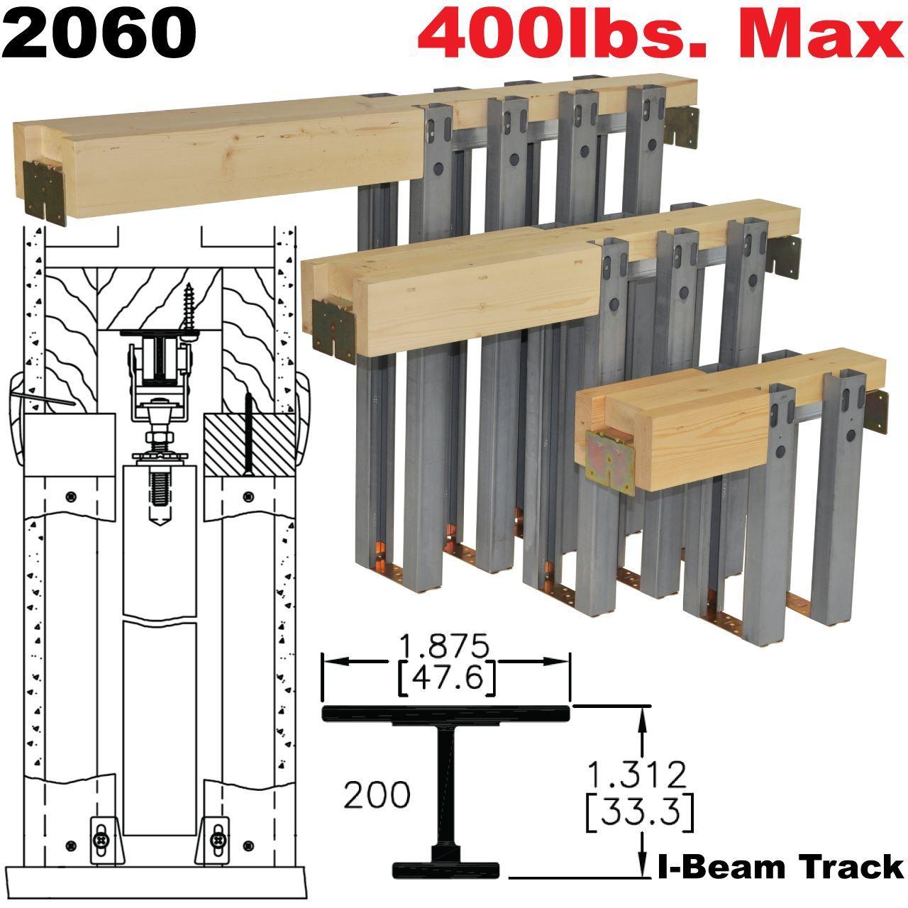 Johnson Hardware 2060 Pocket Door Frame Sliding Folding Pocket Door Hardware