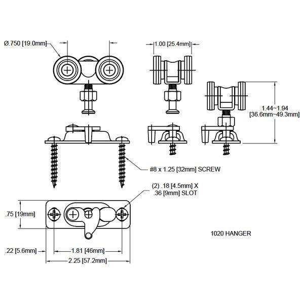1025 Ball Bearing Wheel Door Hanger Jhusa Net Sliding