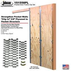 Picture of 151558PL Pocket Door Frame Reinforcement Clip Set