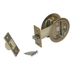 """Picture of 152115P1 Auto-Latching Pocket Door Lock Set, 1-3/8"""" Door"""